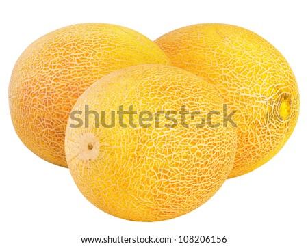 melons, isolated - stock photo