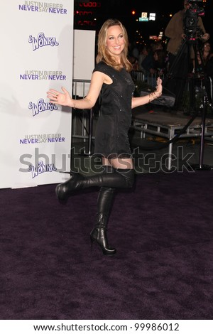 "Melora Hardin at the ""Justin Bieber: Never Say Never"" Los Angeles Premiere, Nokia Theater, Los Angeles, CA. 02-08-11"