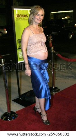 """Melora Hardin at the """"Sideways"""" Los Angeles Premiere held at the Academy of Motion Pictures Arts and Sciences in Beverly Hills, California United States on October 12 2004. - stock photo"""
