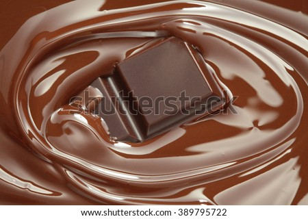 Melting chocolate / melted chocolate/ chocolate swirl - stock photo