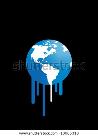 Melting earth. Global warming concept. - stock photo