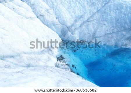 Melting Glaciers - stock photo