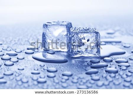 melting ice - stock photo