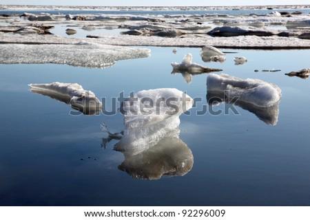 Melting Ice Cap - stock photo
