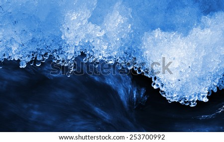 Melting ice , water drop texture. - stock photo