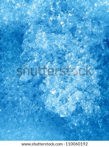 Melting snow texture - stock photo