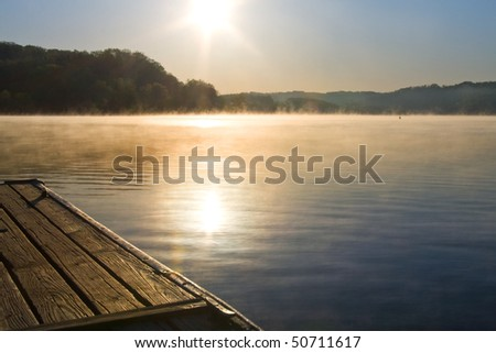 Melton Hill Lake, Oak Ridge, Tennessee. - stock photo