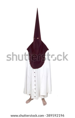 member of the brotherhood of penitents. Easter penitent - stock photo