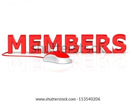 member on-line - stock photo