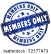 Members only stamp - stock vector