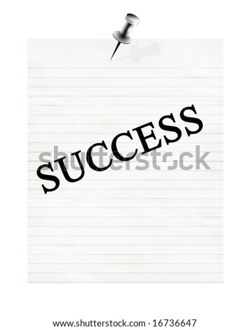 memo with success on a white background