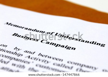 Memorandum of understanding for business