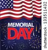 Memorial Day Flag Design. JPG - stock vector