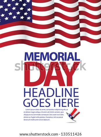 Memorial Day Flag Design. JPG - stock photo