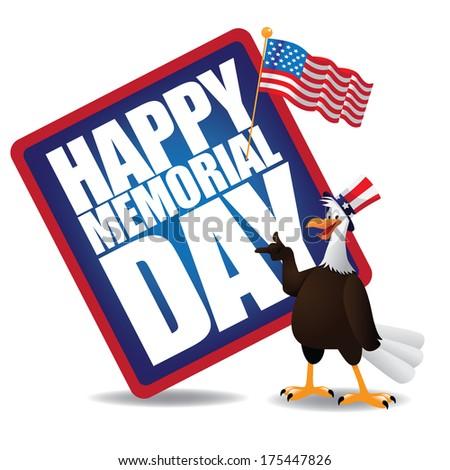 Memorial Day Icon.  - stock photo