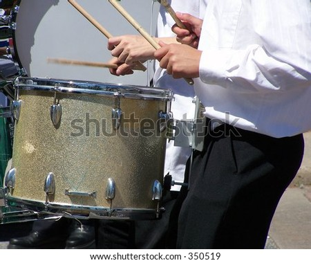 Memorial Day parade drummer