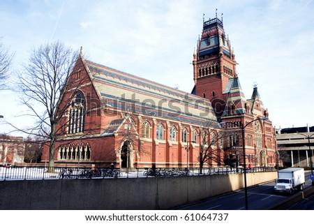 Memorial hall of Harvard university in Cambridge, Massachusets - stock photo
