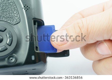 memory card insert to camera