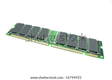 Memory Chips on Isolated white Background