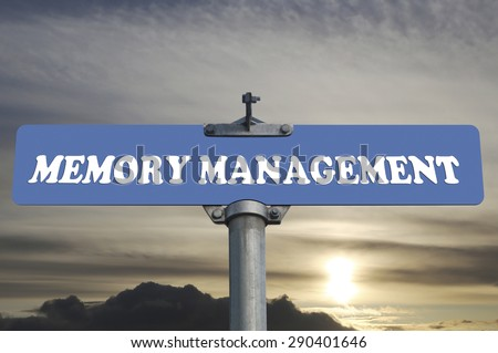 Memory management road sign - stock photo