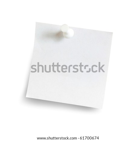 Memory note - stock photo