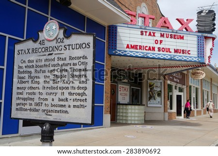 MEMPHIS, TENNESSEE, May 12, 2015 : The Stax Museum is a replica of Stax recording studio. It celebrates the legacy of Stax Records and its artists as Isaac Hayes, Otis Redding, and many others.