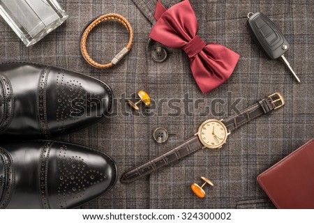 Men accessories  - stock photo