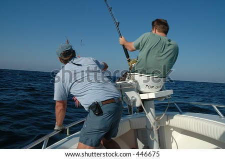 Men fishing - stock photo