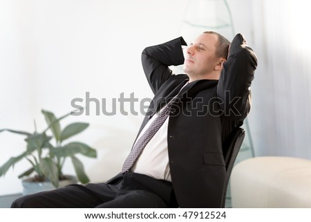 Men in suit - stock photo