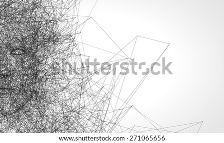 Men Low poly wire construction concept concepts connection - stock photo