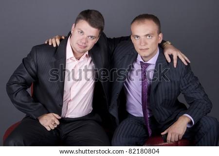 men negotiate - stock photo