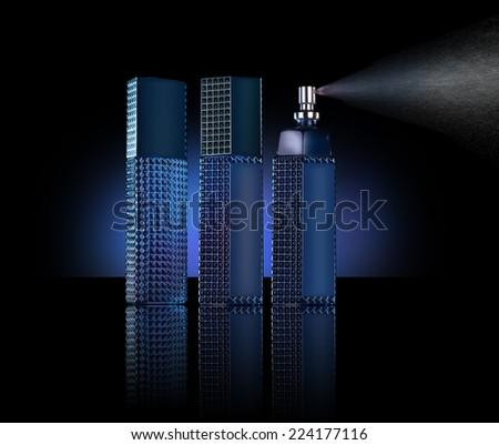 men perfume bottles spray - stock photo