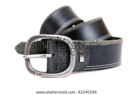 men's belt. isolated over white.