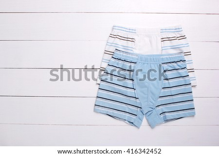men's Boxer briefs isolated on a white background
