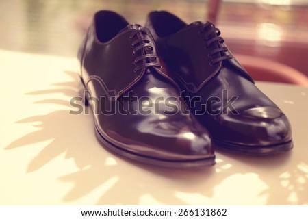 Men's shoes - stock photo
