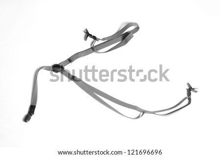 Men's Suspenders isolated on white background