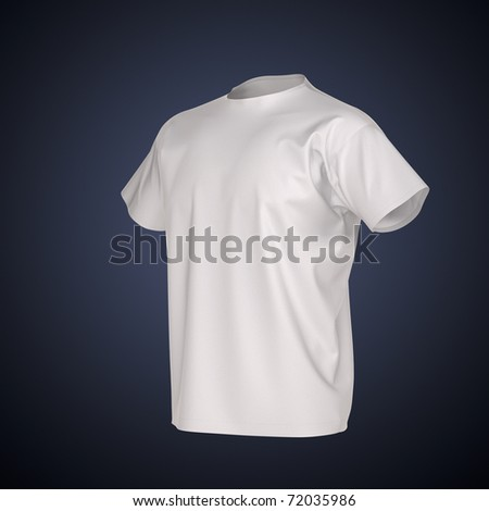 Men's T-shirt Isolated with clipping path. Clothing collection - stock photo