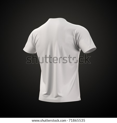 Men's T-shirt with clipping path. Collection Clothing - stock photo