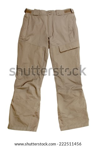 Men's trousers isolated on white background  - stock photo