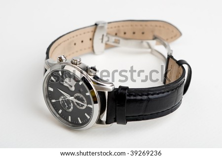 Men's watch isolated on white