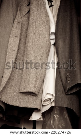 men's wear in clothes - stock photo