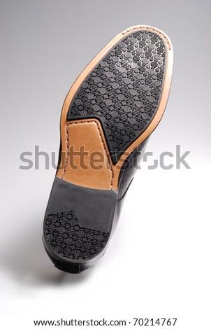 men shoe heel sole side - stock photo