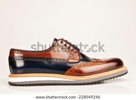 men shoe isolated on white background