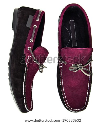 men shoes isolated background - stock photo