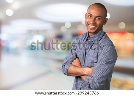 Men, Smiling, Portrait. - stock photo