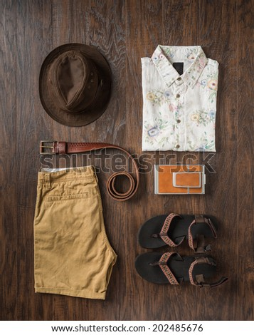 Men summer fashion editorial  - stock photo