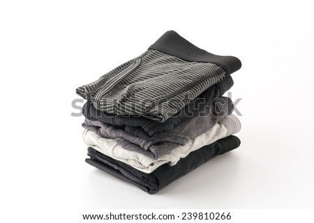 men underwear isolated on white background - stock photo