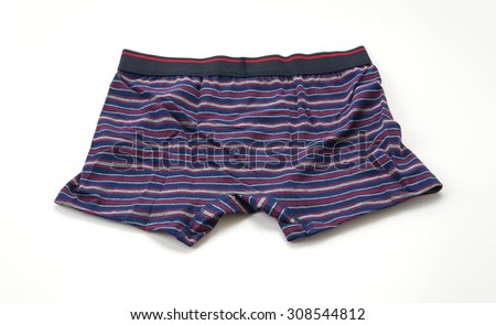 men underwear on white background