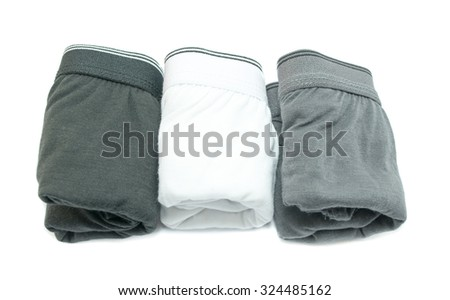Men underwear on white background - stock photo