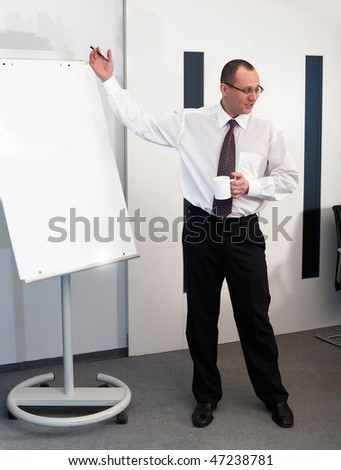 Men with cup - stock photo
